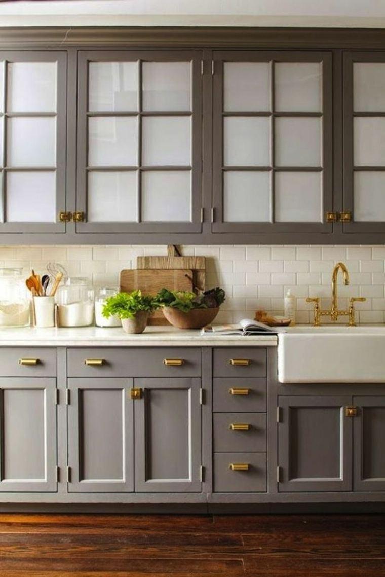 Color vis n para los muebles de la cocina ideas - Pintura color vison ...