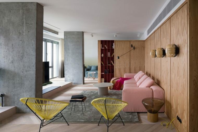 combinacion-rosa-amarillo-estilo-salon