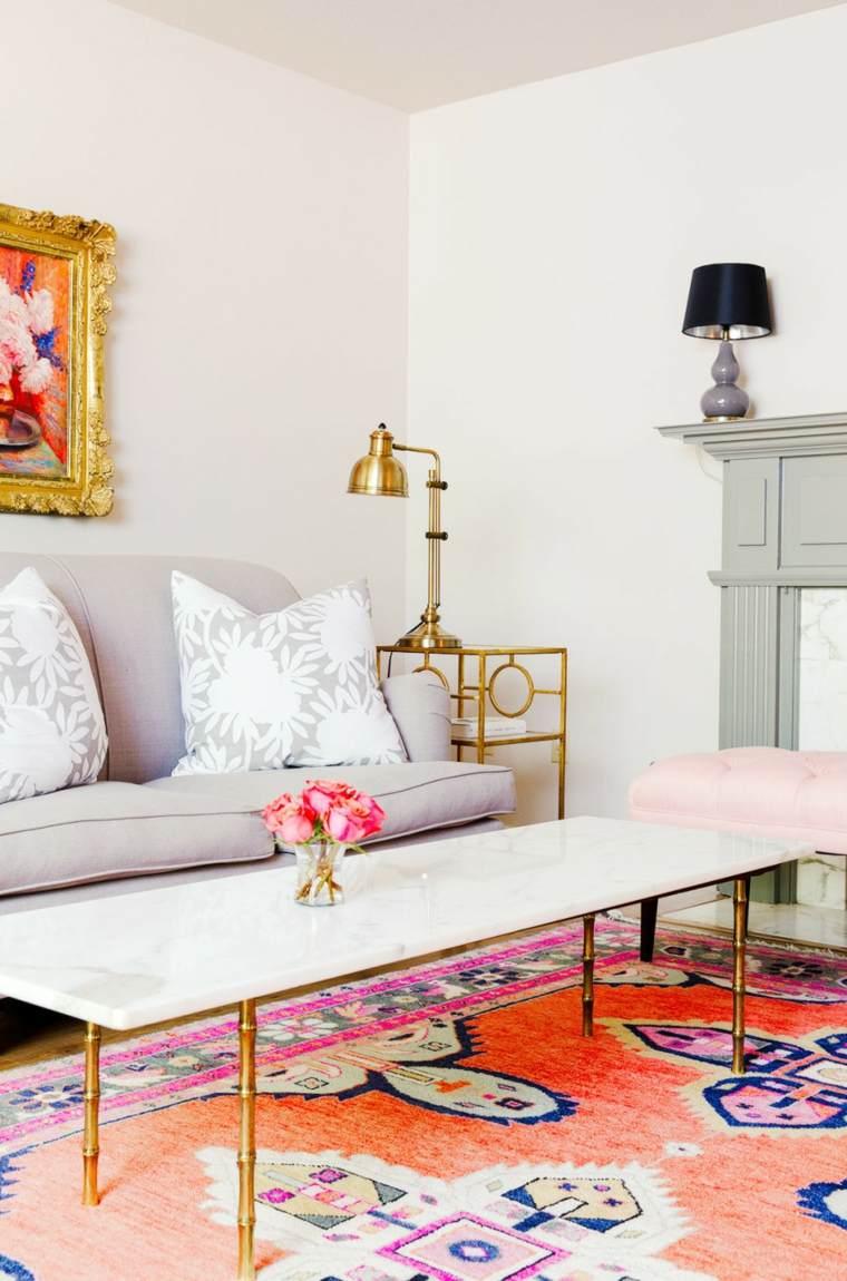 cómo decorar el salón-diseno-alfombra-destaca