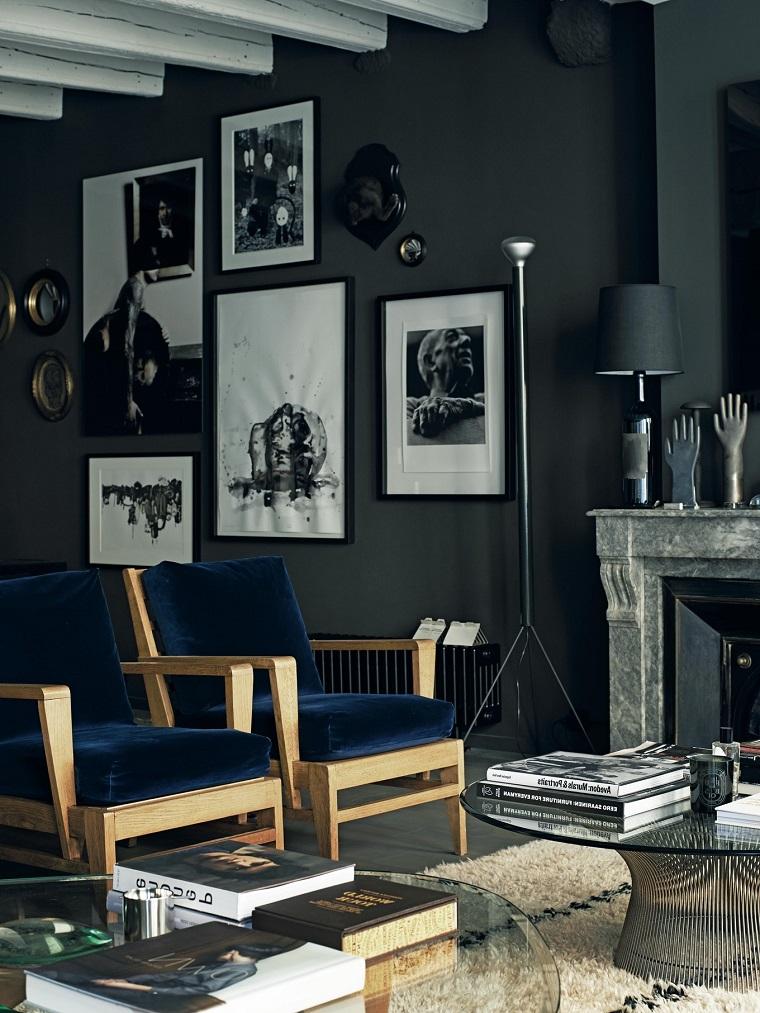cómo decorar el salón-diseno-colores-oscuros