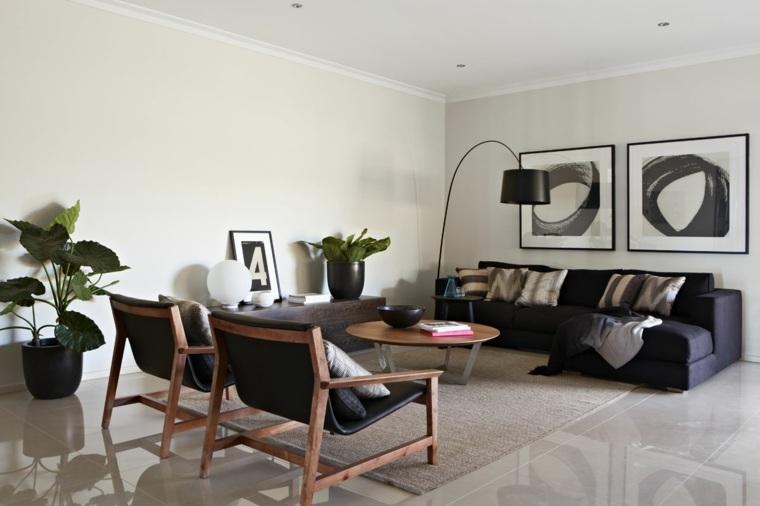 como-decorar-el-salon-diseno-muebles-negros