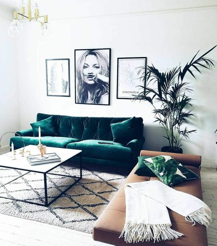 como-decorar-el-salon-diseno-sofa-verde