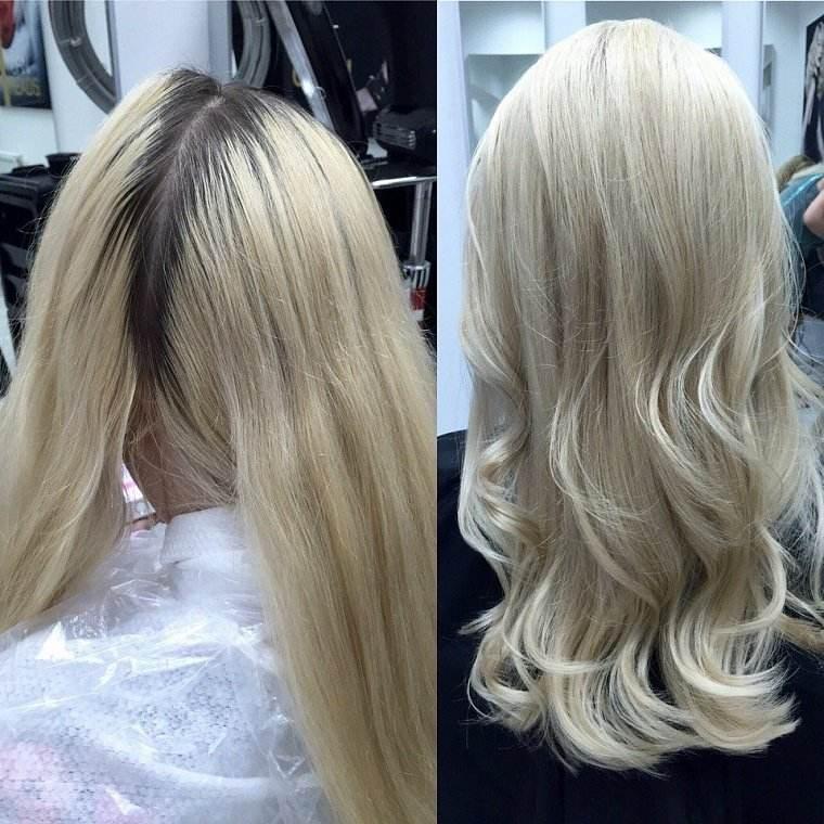 cortar el pelo a capas-rubio