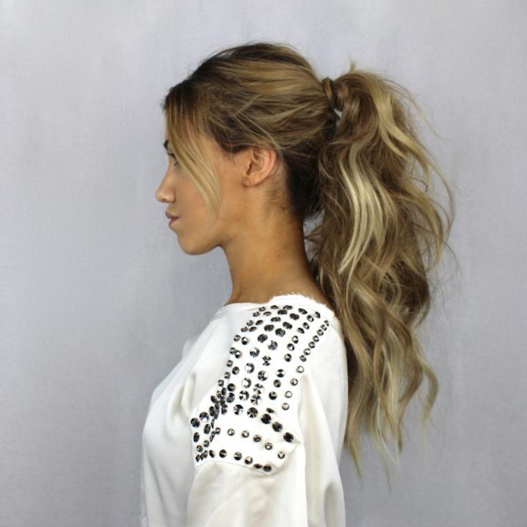 cortar el pelo a capas-recogido-ondulado