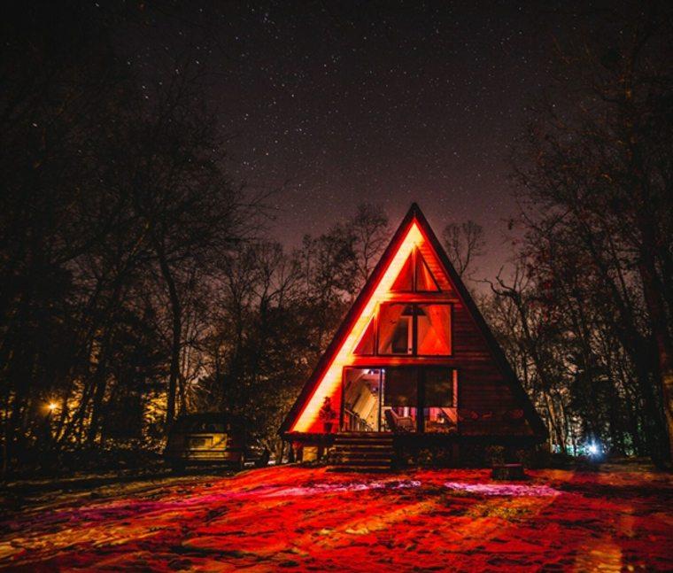 costruccion moderna-luz-noche