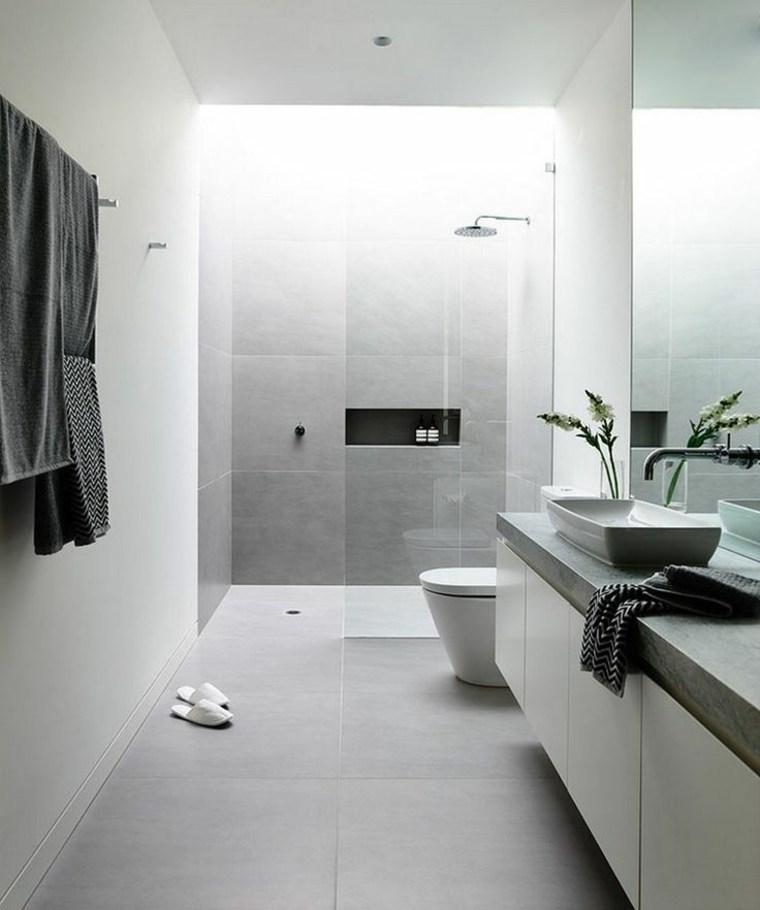 diseños de baños minimalistas