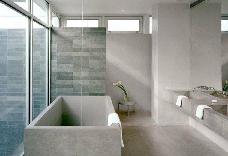 bañera de hormigón