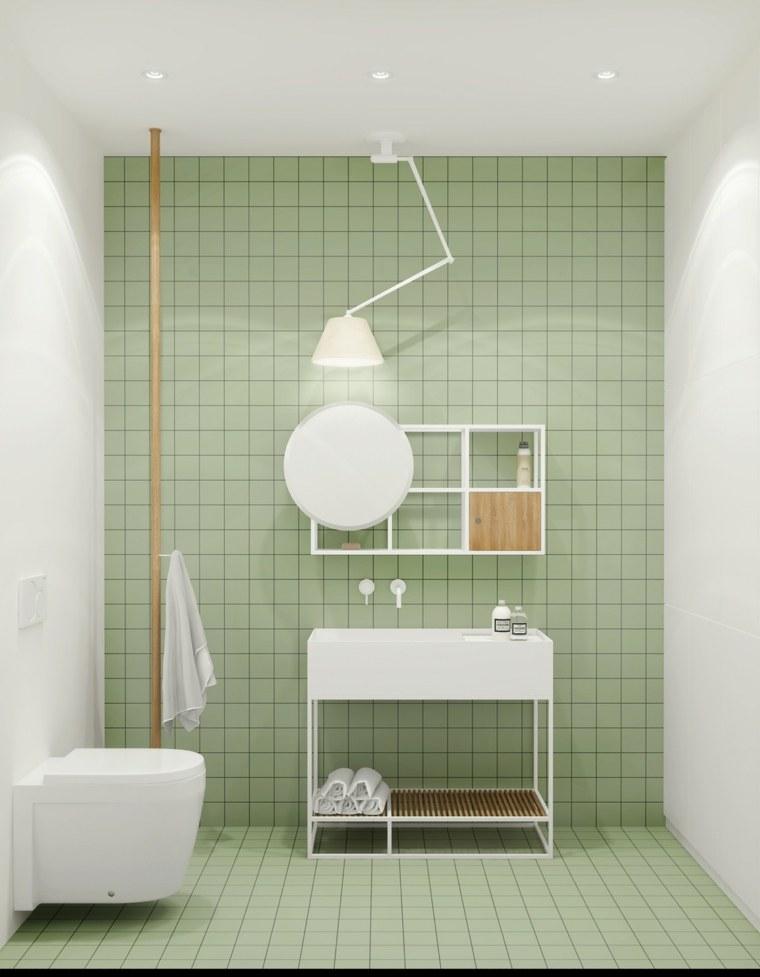 Ba os minimalistas un estilo de dise o que crea amplitud for Cuartos de bano verdes