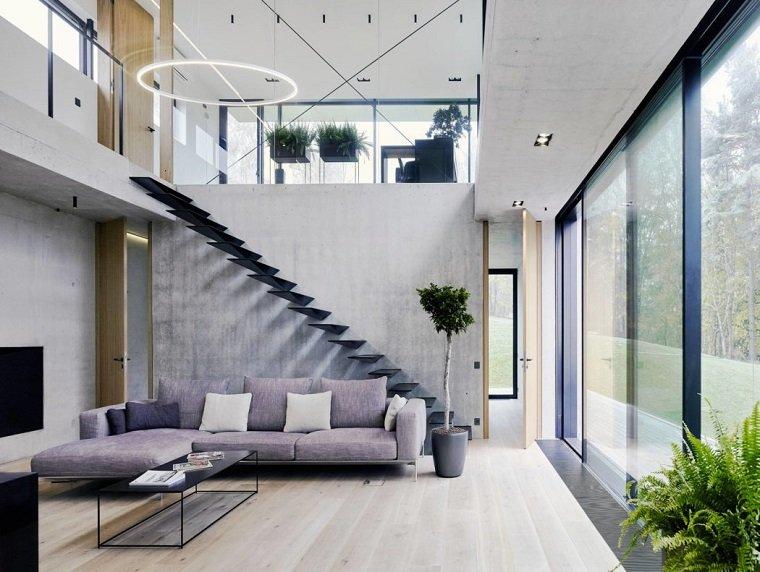 decoración de interiores-salon-alfombra