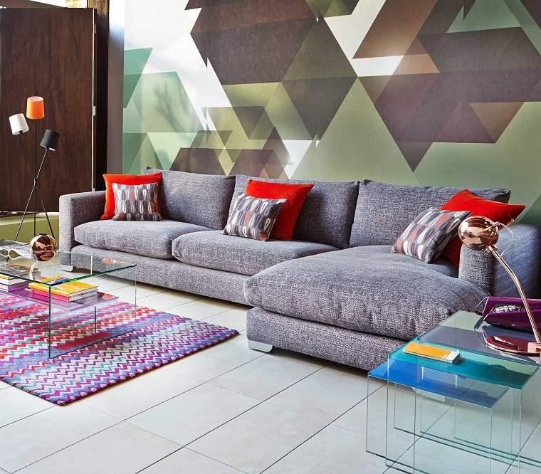 decoración de interiores-salon-colores