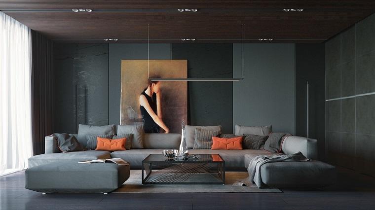 decoración de interiores-salon-sofa-larga