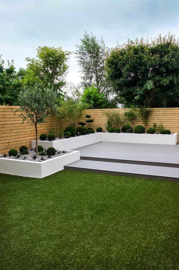 decoración de jardines pequeños minimalistas