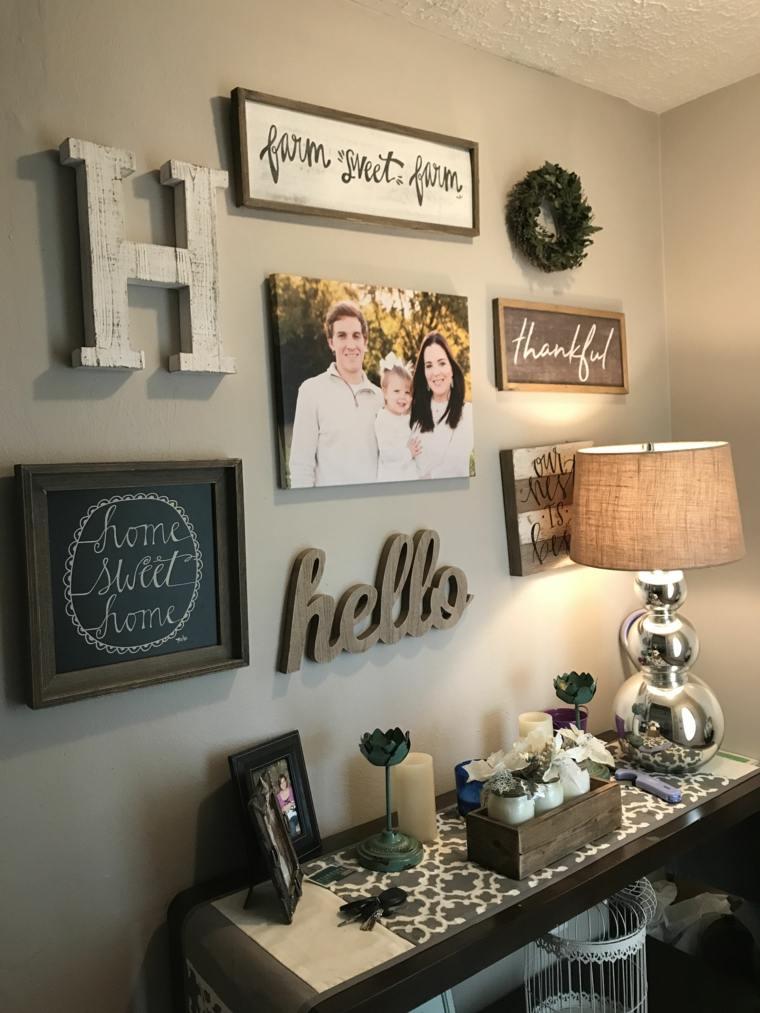 decoracion de recibidores-fotos-familiares