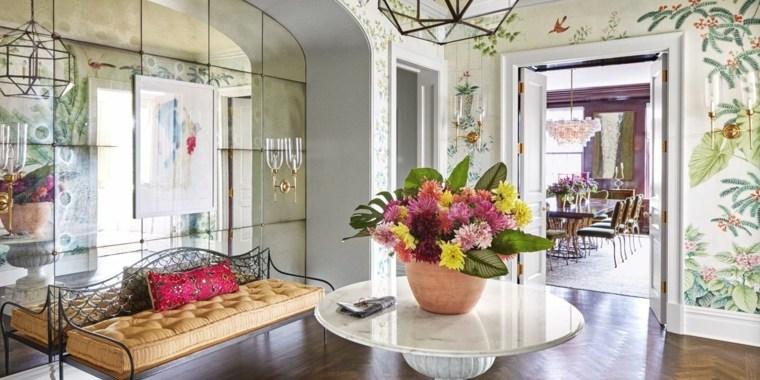 decoracion de recibidores-pequenos-flores