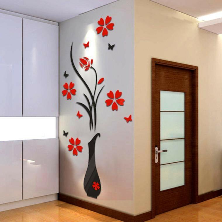 decoracion de recibidores pequenos-paredes