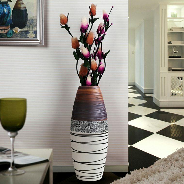 decoracion recibidores modernos-jarron