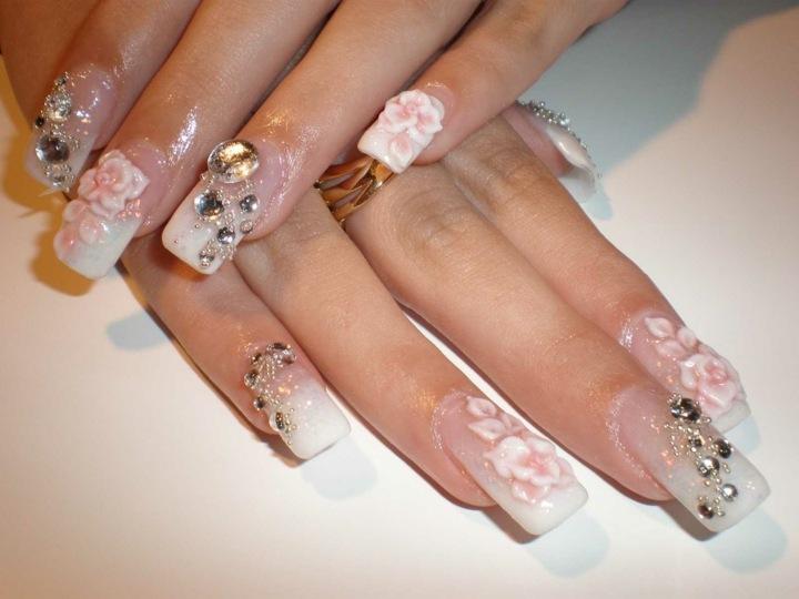 decoradas-flores-perlas-rosa