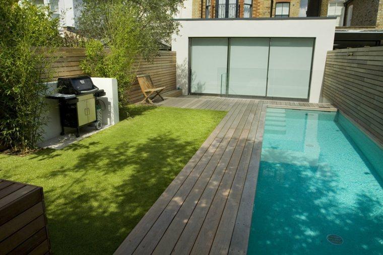 Dise o de jardines peque os con piscina peque a ideas y for Jardines minimalistas con piscina