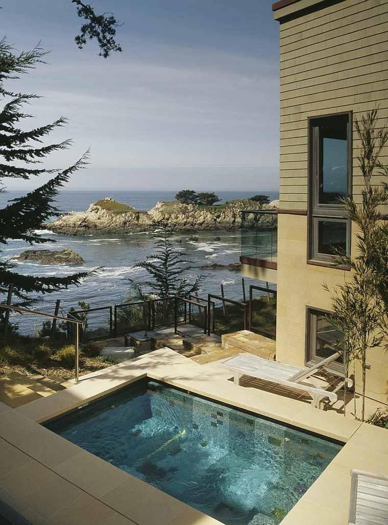 Dise o de jardines peque os con piscina peque a ideas y for Piscina estilo playa