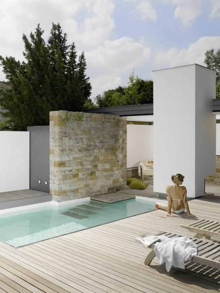 diseño de jardines pequeños con-piscina-estilo