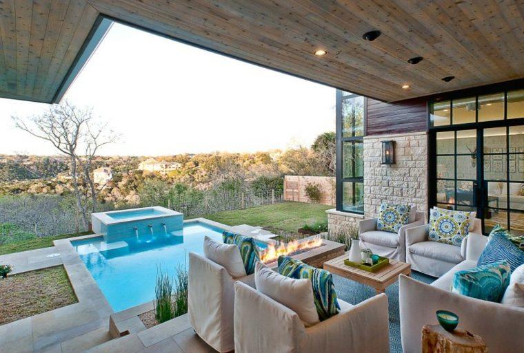 diseño de jardines pequeños con piscina-vistas-bellas
