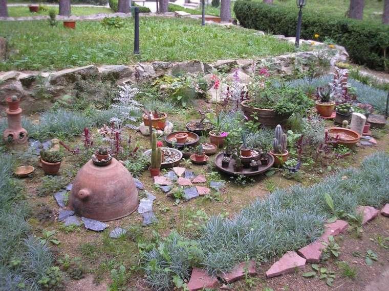 diseño de jardines rústicos idea