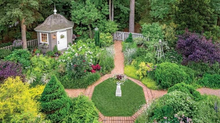 diseño de jardines rústicos ideas