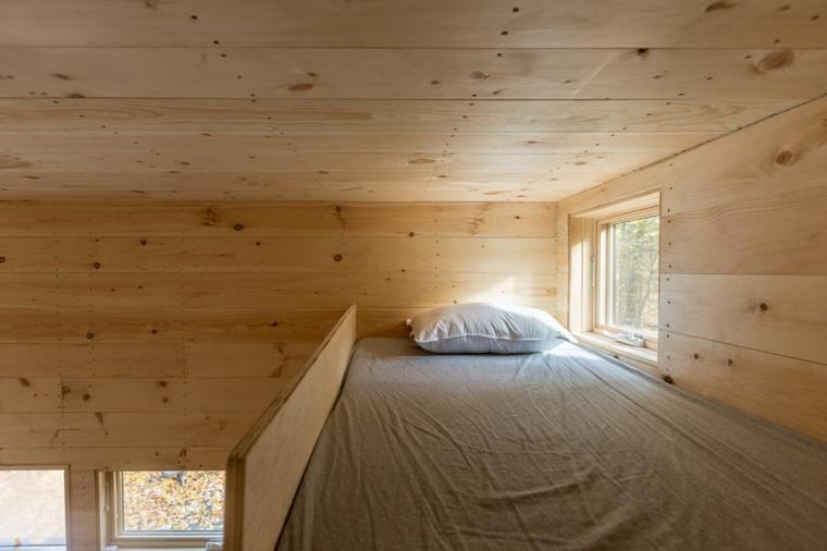 interior de cabaña de madera Getaway