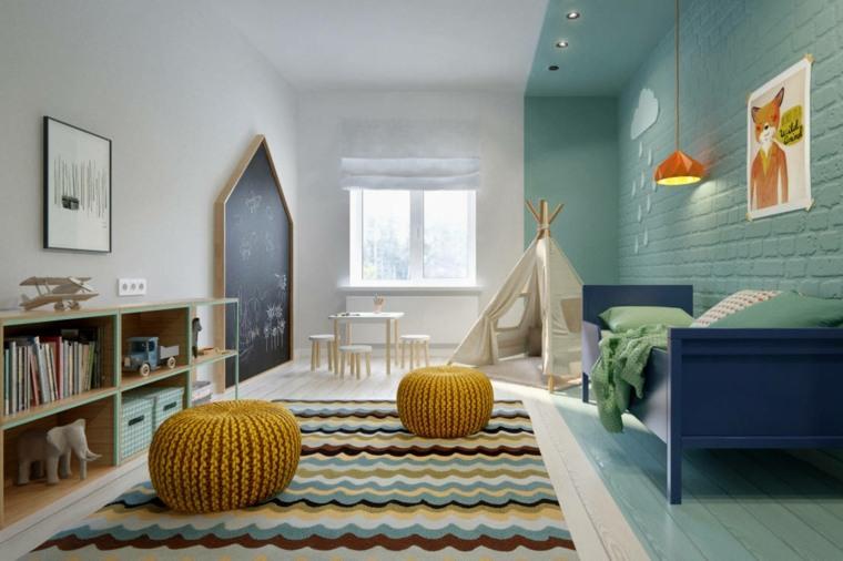 dormitorios-infantiles-diseno-opciones-cama-azul-pare-pizarra
