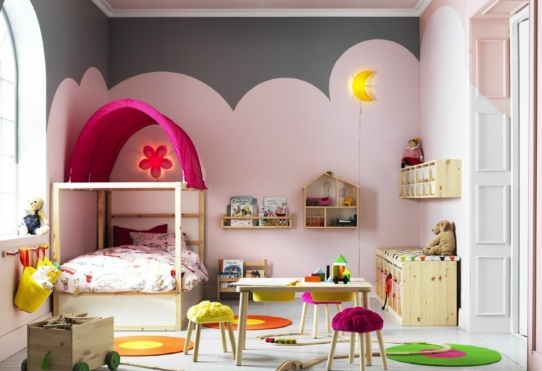 dormitorios-infantiles-diseno-opciones-chicas-color-rosa