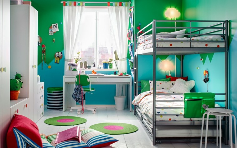 dormitorios-infantiles-diseno-opciones-color-verde