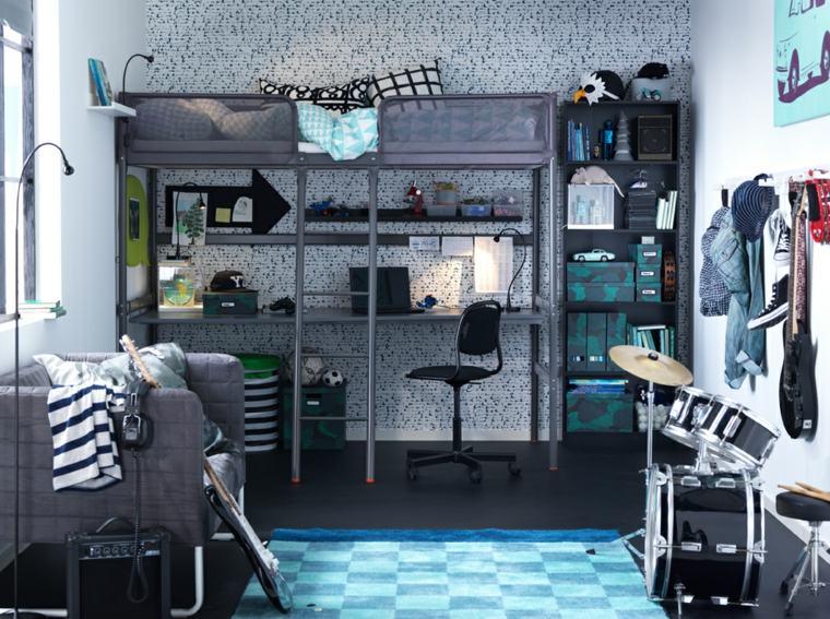 dormitorios-infantiles-diseno-opciones-colores-oscuros-gris