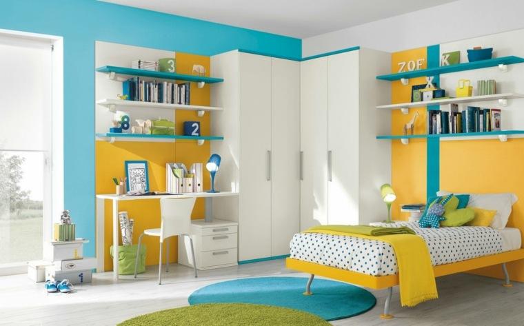 dormitorios-infantiles-diseno-opciones-combinacion-azul-amarillo