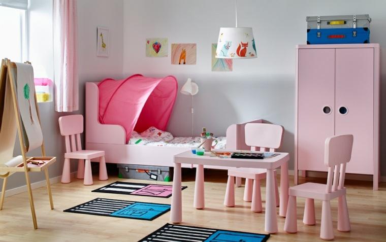 dormitorios-infantiles-diseno-opciones-muebles-color-rosa