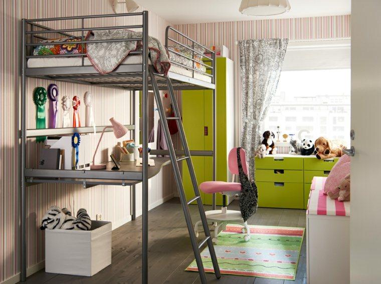 dormitorios-infantiles-diseno-opciones-muebles-color-verde
