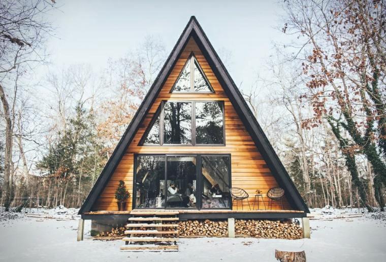 edificios modernos-descansar-bosque
