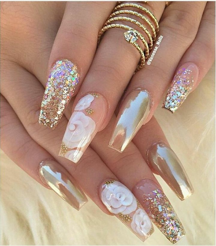 25 Best Ideas About White Nails On Pinterest: Uñas Decoradas Ideas Modernas Para El Estilo Coffin O