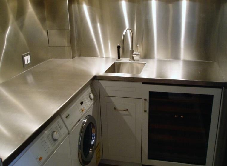 Encimeras de cocina tipos de materiales y consejos - Encimeras de acero ...