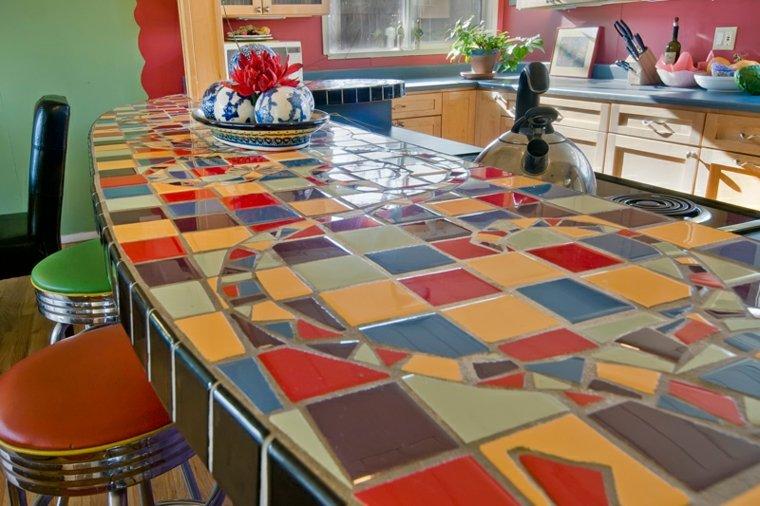 encimeras de cocina azulejos