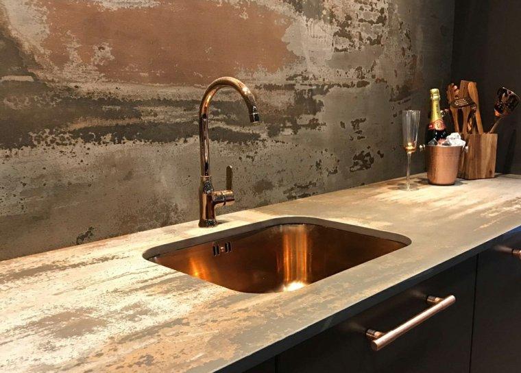 encimeras de cocina-piedra-cobre-lavavo