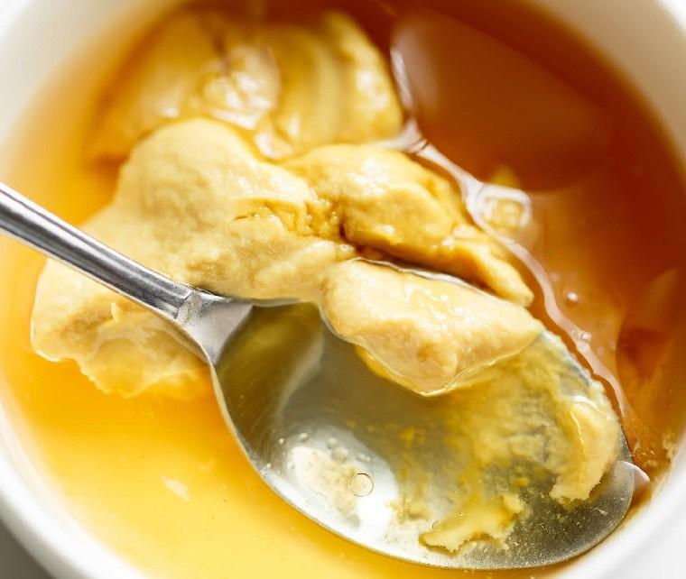 ensalada con manzana-tocino-arandanos-miel-mostaza