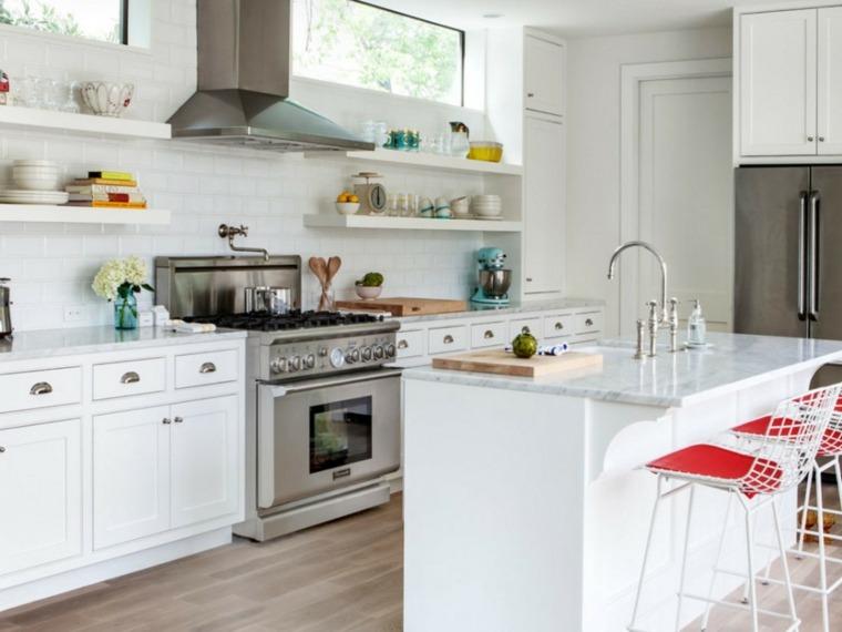 estanterías blancas-de-cocina