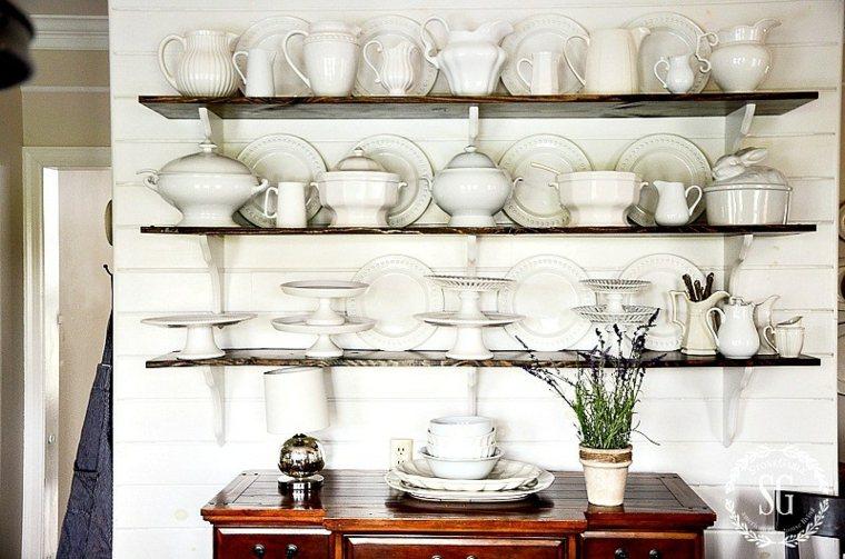 estanterías ceramica-blanca