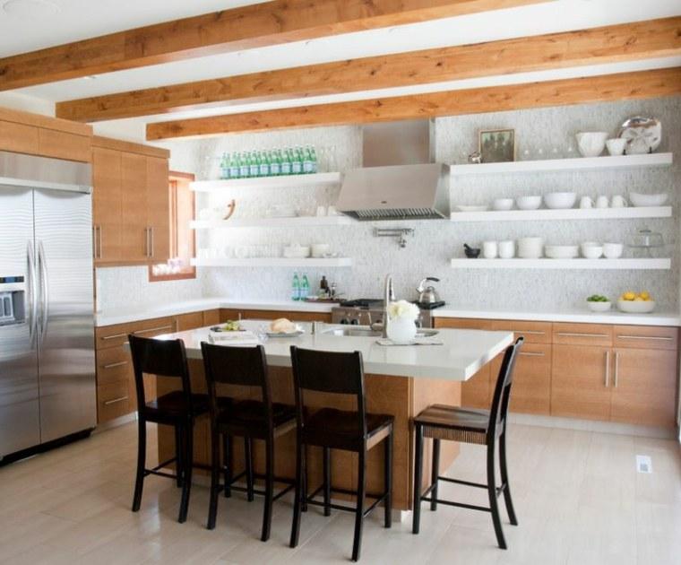 estanterías de-cocina-blancas