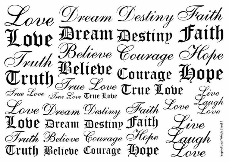 tipos de letras para un tatuaje