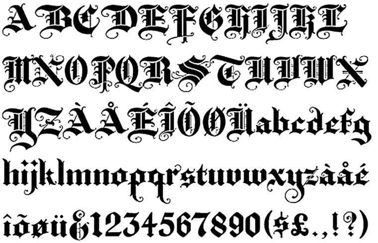 estilo de letra para tatuaje