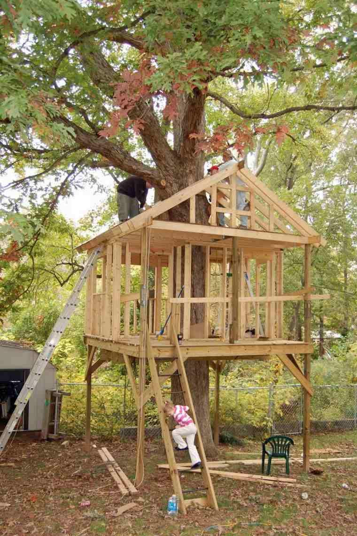 cómo construir casitas en el árbol