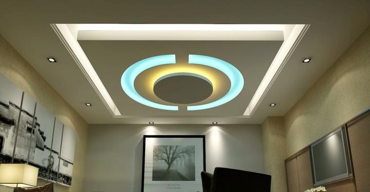 Iluminación indirecta LED para falsos techos
