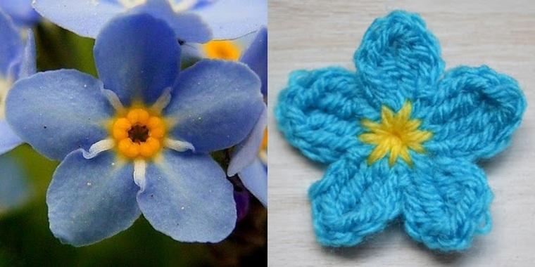 Flores de ganchillo simples