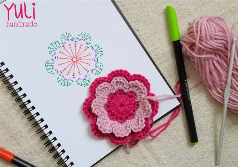 Flores de ganchillo aprende a disearlas y salas para decorar